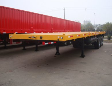 Kailai 3 Axles 40 feet flat bed container semi trailer