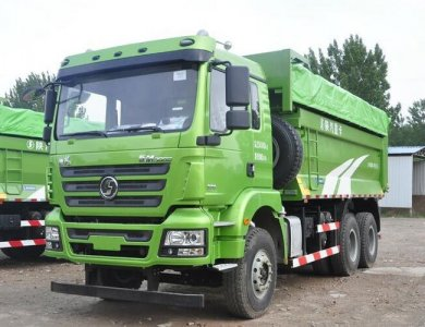 SHACMAN M3000 light kerb weight 6x4 dump truck for clinker transportation in city