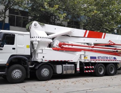 China Supplier Sinotruk 60m Concrete Pump Truck Price