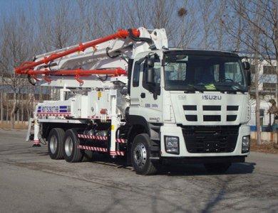 Construction Vehicle ISUZU 37m Concrete Pump Truck