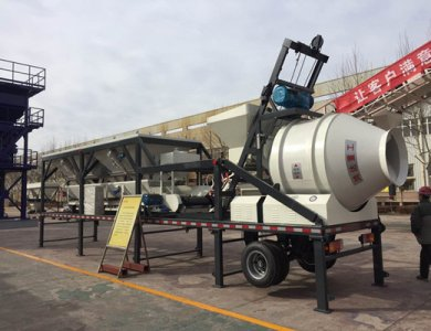 YHZM30 mobile concrete mixing station