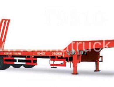 heavy duty 80 tons capacity low bed semitrailer