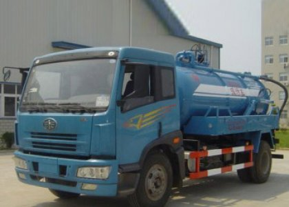 FAW vacuum sewage suction tanker trucks for sale
