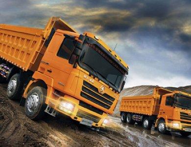 SHACMAN CUMMINS Engine 345hp 8x4 heavy duty dump truck