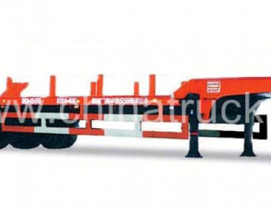 2 Axles Low Bed Semitrailer for sale