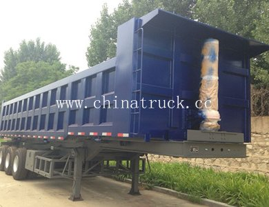 High Quality 60T Capacity 3-Axle Dump Semi Trailer
