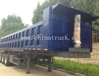 High Quality 60T Capacity 3-Axle Dump Semi Trailer