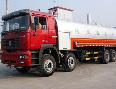SHACMAN 8x4 25m3 water tank truck