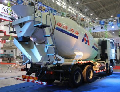 Shacman 8x4 345hp 10m3 cement mixing transportation truck