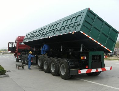 80 Ton Capacity 3 Axles Side Tipper Semi Trailer