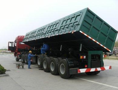 80 Ton Capacity 3 Axles Side Tipper Semi Trailer