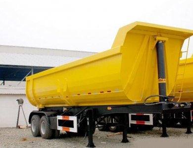 2 Axles 8 Tyre Dumper Trailer Tipper Trailer Truck