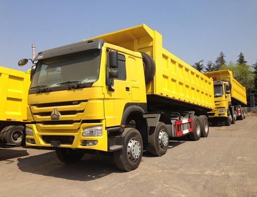 China Engineering Vehicle Sinotruk HOWO 8x4 Off Road Dump Trucks