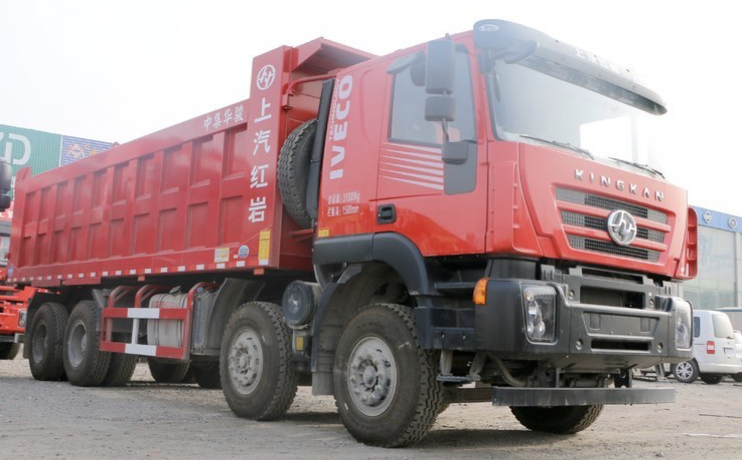 big heavy duty truck iveco kingkan dump truck for sale