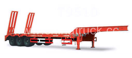 heavy duty 80 tons capacity low bed semitrailer