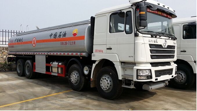 Shanqi Stainless Steel 8x4 Tank Truck
