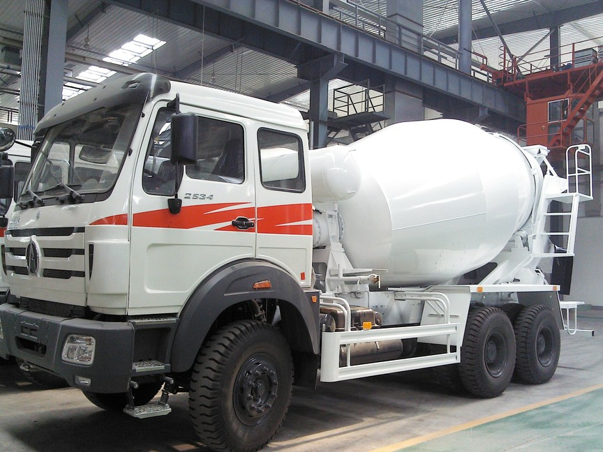 North Benz 6x4 5cbm-9cbm Beiben cement mixer truck