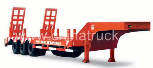 Cheap Price 3 Axles 60 Tons 70 Tons Low Bed Semitrailer