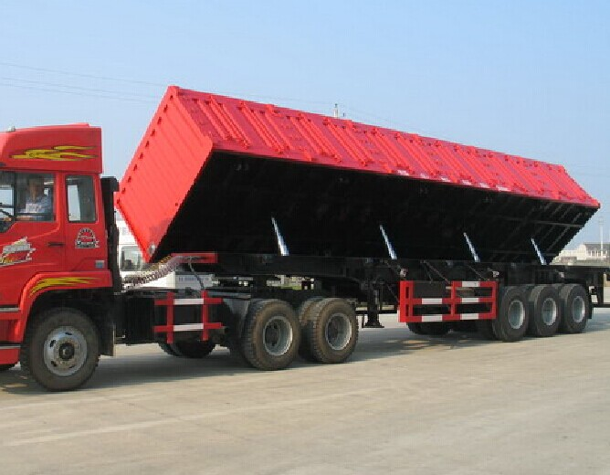 High Quality Side Tipper 3 Axle Tipper Semi Trailer