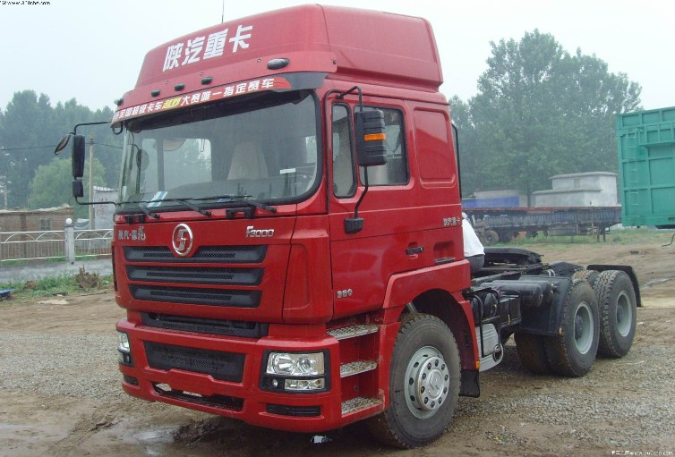 Euro 3 420hp Cummins engine Shacman 6x4 tractor truck